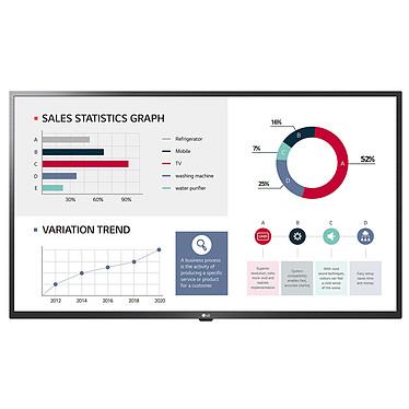 """LG 50UL3G Ecran dynamique 50"""" - 4K (3840 x 2160 pixels) - 16:9 - IPS - 5000:1 - 350 cd/m² - 9.5 ms - Wi-Fi/Ethernet - HDMI - Pivot - Haut-parleur intégré - 16/7 - Noir"""