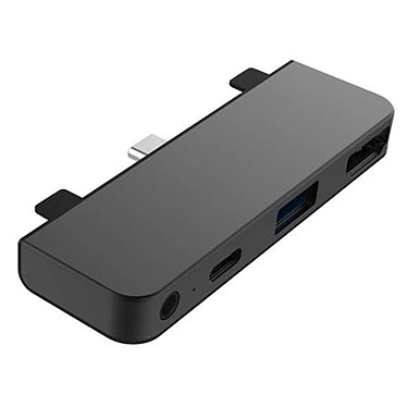 HyperDrive Hub USB-C 4 en 1 para iPad Pro / Air 2020 (Gris)