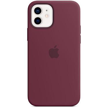 Funda de silicona Apple con MagSafe Plum Apple iPhone 12 / 12 Pro