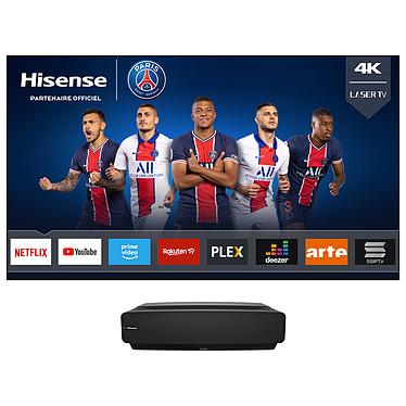 "Hisense H80LSA Vidéoprojecteur laser DLP - 4K Ultra HD - HDR - Focale ultra-courte - Tuner DVB-T2/C/S2 - Smart TV - Wi-Fi/Bluetooth/DLNA - Barre de son 2 x 15 W - Ecran 80"" inclus"