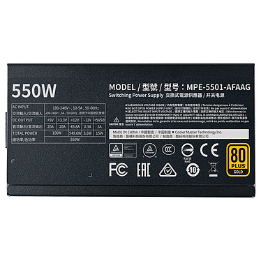 Acheter Cooler Master MWE Gold 550 Full Modular V2