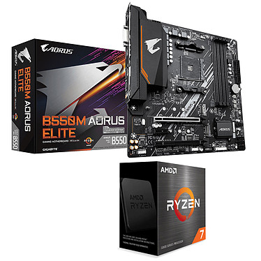 Kit Upgrade PC AMD Ryzen 7 5800X Gigabyte B550M AORUS ELITE