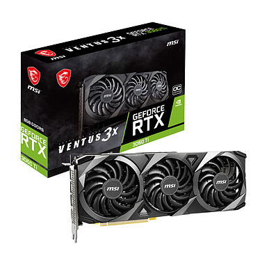 MSI GeForce RTX 3060 Ti VENTUS 3X 8G OC GDDR6 de 8 GB - HDMI/Tri DisplayPort - PCI Express (NVIDIA GeForce RTX 3060 Ti)