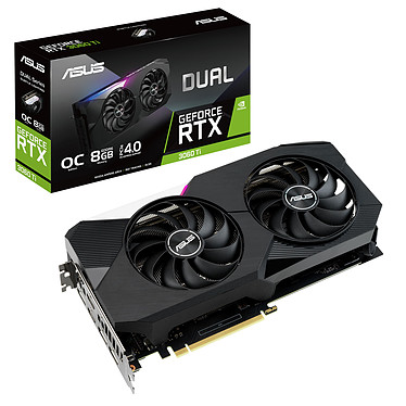 ASUS GeForce RTX Dual 3060 Ti O8G GDDR6 de 8 GB - Doble HDMI/Tri DisplayPort - PCI Express (NVIDIA GeForce RTX 3060 Ti)