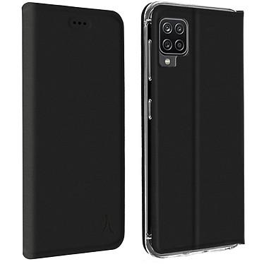 Akashi Etui Folio Porte Carte Noir Samsung Galaxy A12