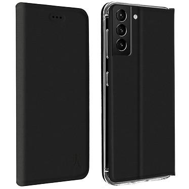 Akashi Etui Folio Porte Carte Noir Samsung Galaxy S21