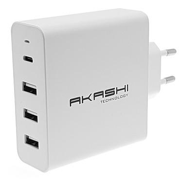 Akashi Chargeur Secteur 45W 6A USB-C + 3x USB-A
