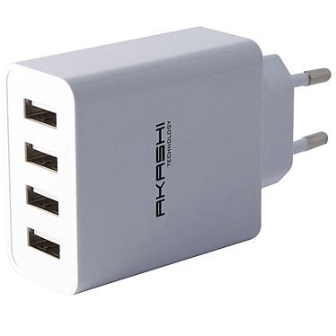 Akashi Turbo Chargeur Secteur 4 USB 5A