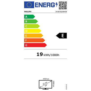 "Philips 23.8"" LED - 241B7QUBHEB pas cher"