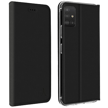 Akashi Etui Folio Porte Carte Noir Samsung Galaxy A52 4G/5G