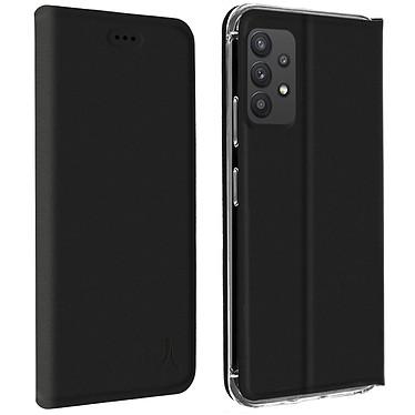 Akashi Etui Folio Porte Carte Noir Samsung Galaxy A32 4G