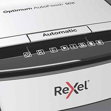 Rexel Destructeur Optimum coupe croisée Auto+ 50X pas cher