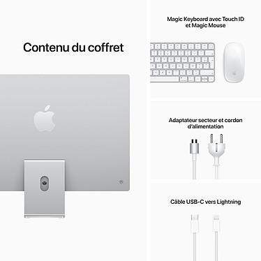 """Apple iMac (2021) 24"""" 512 Go Argent (MGPD3FN/A-MKPN) pas cher"""