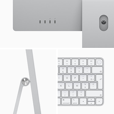 "Acheter Apple iMac (2021) 24"" 1 To Argent (MGPD3FN/A-M1-8/8-16GB-1TB-MKPN)"