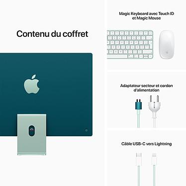 """Apple iMac (2021) 24"""" 256 Go Vert (MGPH3FN/A-MKPN) pas cher"""