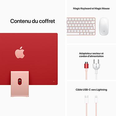 """Apple iMac (2021) 24"""" 256 Go Rose (MJVA3FN/A-MKPN) pas cher"""