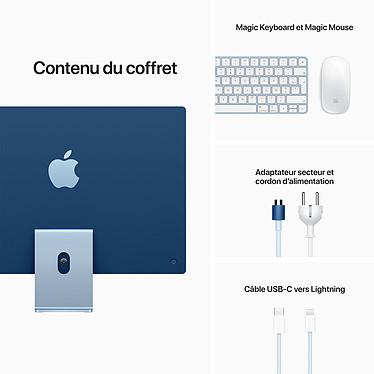 """Apple iMac (2021) 24"""" 256 Go Bleu (MJV93FN/A-MKPN) pas cher"""