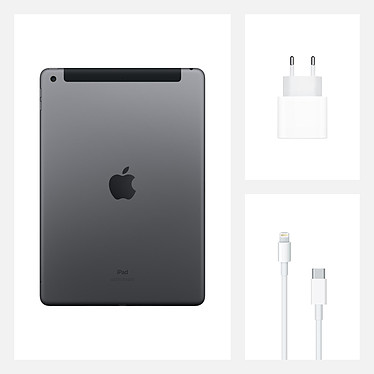 Apple iPad (Gen 8) Wi-Fi + Cellular 128 Go Gris Sidéral pas cher