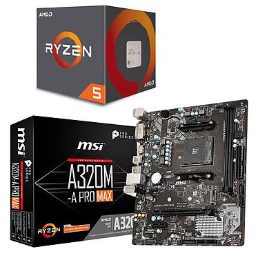 AMD Ryzen 5 1600 AF Wraith Stealth Edition (3.2 GHz / 3.6 Ghz) + MSI A320M-A PRO MAX