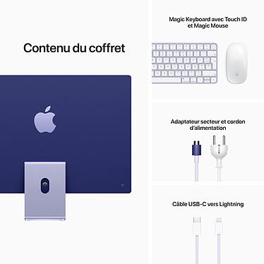 "Apple iMac (2021) 24"" 256 Go Mauve (Z132-8GB/256GB-M) pas cher"