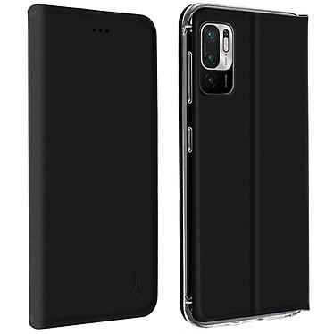 Akashi Etui Folio Porte Carte Noir Xiaomi Redmi Note 10 5G