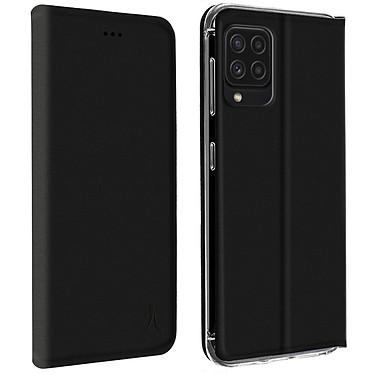 Akashi Etui Folio Porte Carte Noir Samsung Galaxy A22 4G