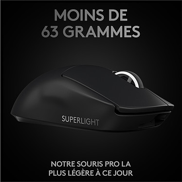 Avis Logitech Wireless Gaming Pro X Superlight (Noir)
