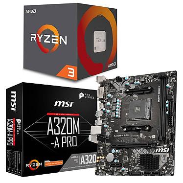 AMD Ryzen 3 1200 AF Wraith Stealth Edition (3.1 GHz / 3.4 Ghz) + MSI A320M-A PRO