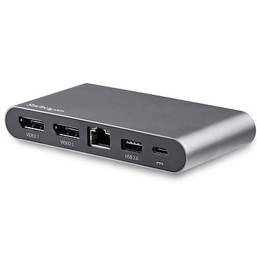 StarTech.com Station d'accueil USB Type-C à double affichage DisplayPort 4K pour PC portable