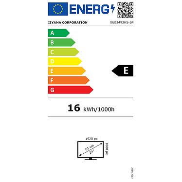 "iiyama 23.8"" LED - ProLite XUB2493HS-B4 pas cher"