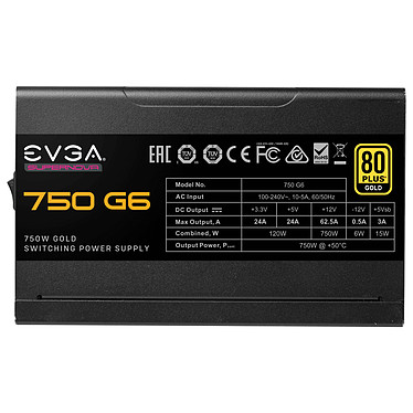Avis EVGA SuperNOVA 750 G6