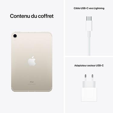 Apple iPad mini (2021) 256 Go Wi-Fi + Cellular Lumière stellaire pas cher