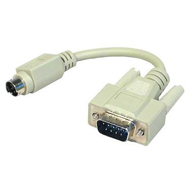 Adaptateur PS/2 mâle / DB9 mâle (câble 15 cm)