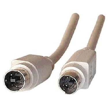 Câble PS/2 mâle/mâle 1.8 m