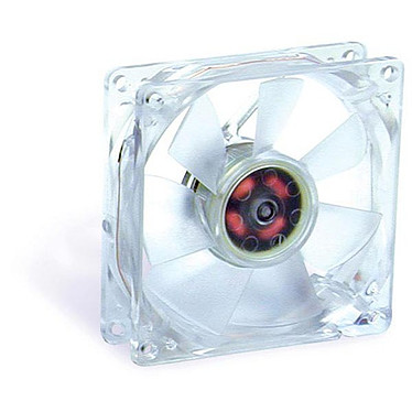 Evercool 80mm Crystal Fan with LED