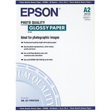 Epson C13S041123 - Papier glacé qualité photo A2 (20 feuilles)
