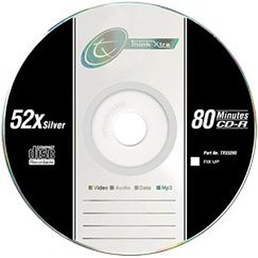 Tx CD-R 80mn Certifié 52x (pack de 10, jewel case)