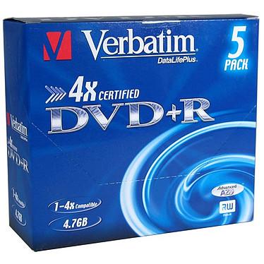 Verbatim DVD+R 4.7 Go Certifié 4x (pack de 5, boîtier simple)