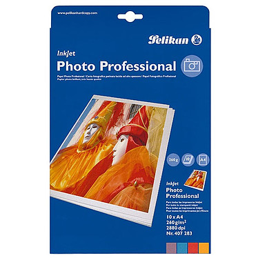 Pelikan Papier Photo A4 brillant 260 gr / 10 feuilles