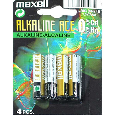 MAXELL LR03 ALCALINE (Pack de 4)