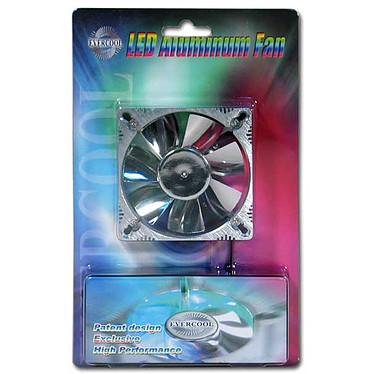 Evercool Ventilateur Alu 80mm à LEDs (Bleu)