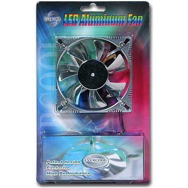 Evercool Ventilateur Alu 92mm à LEDs
