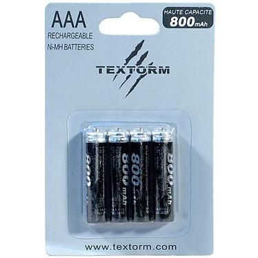 TEXTORM - Pack de 4 batteries AAA 800 mAh