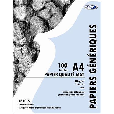 LDLC Papier Qualité Mat, 100 g/m² 1440 dpi (A4 - 100 feuilles)