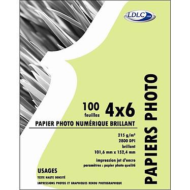 LDLC Papier Photo Glacé, 215 g/m² - Résistant à l'eau (10x15cm - 100 feuilles)