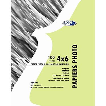 """LDLC Papier Photo Glacé, 230 g/m² 2880 dpi, 4x6"""" (101,6 x152,4 mm), 100 feuilles"""