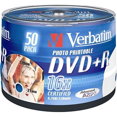Verbatim DVD+R 4.7 Go Certifié 16x Imprimable (pack de 50, spindle)