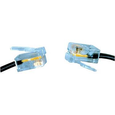 Câble RJ11 mâle/mâle (5 mètres) - (coloris noir) Câble RJ11 mâle/mâle (5 mètres) - (coloris noir)