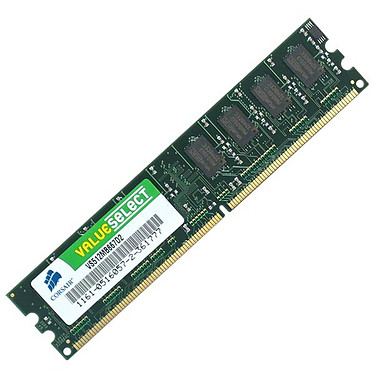 Corsair Value Select 512 Mo DDR2-SDRAM PC5300 - VS512MB667D2 (garantie à vie par Corsair)