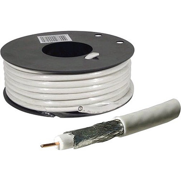 Câble coaxial pour antenne TV / Satellite (rouleau de 25 mètres)